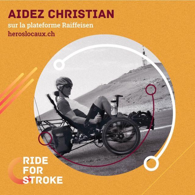 Christian a encore besoin de vous pour réaliser son périple de 5400km ! 🚲 Il ne reste plus que quelques jours pour contribuer à son projet. 👊🏼 Soutenez-le via la plateforme de la Raiffeisen (lien en bio).  #RideForStroke #AVC #Suisse